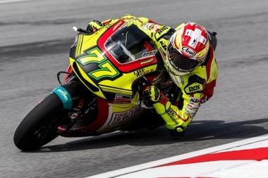 El piloto suizo de Moto2 Dominique Aegerter. EFE/Archivo