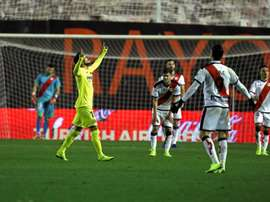 Sansone, contento por su gol. EFE