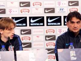 Dalic spoke ahead of Sunday's game with England. EFE