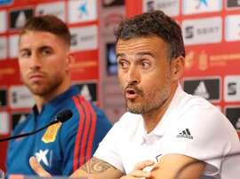 Ramos a envoyé un message de soutien à Luis Enrique. EFE