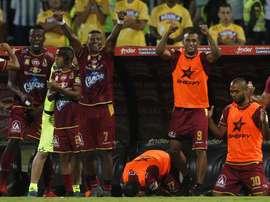 Tolima venció a Santa Fe en Bogotá. EFE