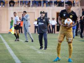 Maradona on the touchline. EFE