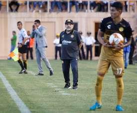 El equipo de Maradona no logró vencer a Mineros. EFE