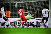 Manuel Neuer pictured during Germany's 3-0 victory against Russia in Leipzig. EFE