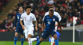 Sancho was a standout performer for England at Wembley. EFE