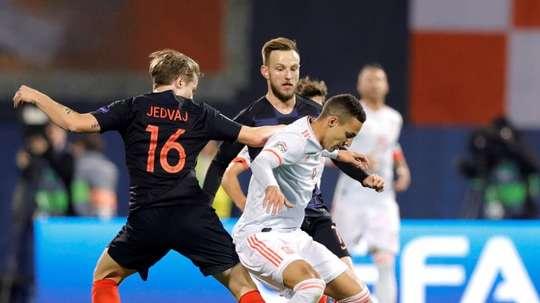 España cayó ante Croacia. EFE