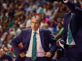 El entrenador del Unicaja Luis Casimiro. EFE