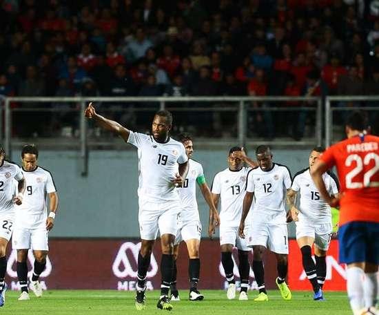 Costa Rica venció en tierras chilenas. EFE