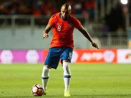 Allenatore Cile su Vidal. EFE