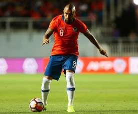 Vidal, protagonista con su doblete en el duelo ante Honduras. EFE