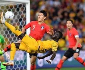 Corea del Sur pegó primero, pero Australia empató en el descuento. EFE