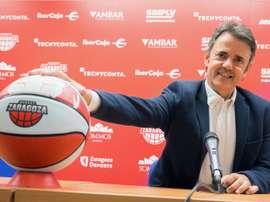 El entrenador del Tecnyconta Zaragoza, Porfirio Fisac. EFE/Archivo