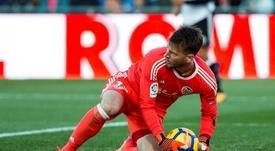 En el duelo ante el Espanyol. EFE