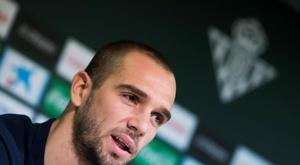 Pau López se estrenó con la Selección Española. EFE