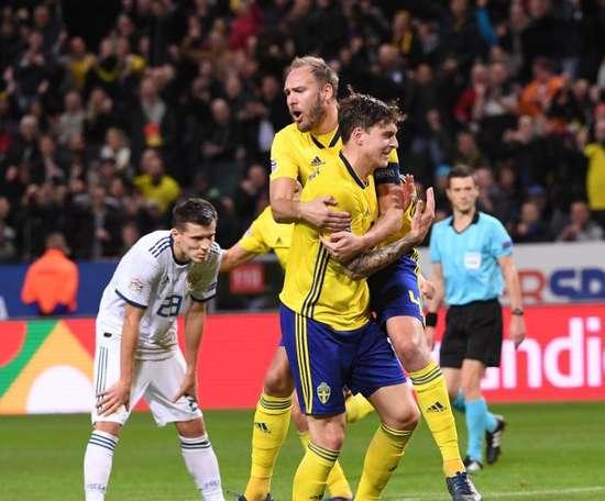 Lindelof has scored twice for Sweden. EFE