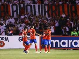 Perú sucumbió ante Costa Rica. EFE