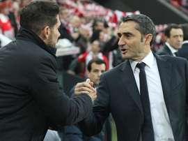 As palavras de Simeone sobre Ernesto Valverde. EFE/Arquivo