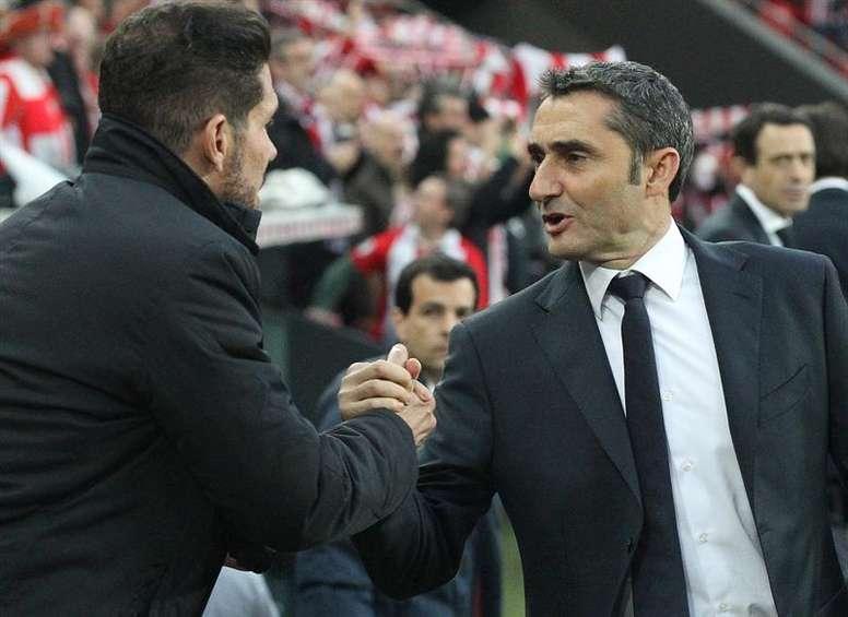 Simeone tuvo bonitas palabras para Valverde. EFE