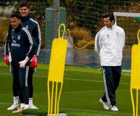 Courtois, Varane, Kroos y Valverde entrenaron con el Madrid. EFE/Archivo