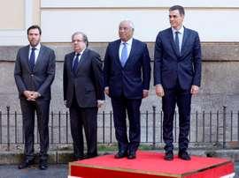 Pedro Sánchez se reunió con el primer ministro portugués Pedro Sánchez. EFE