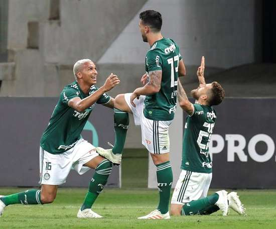 Palmeiras, a un paso de proclamarse campeón. EFE