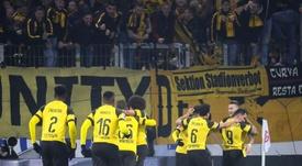 Paco Alcácer, héroe una vez más en el Borussia. EFE