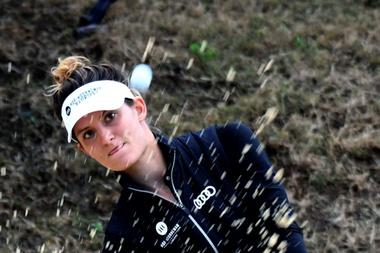La golfista holandesa Anne van Dam, durante la tercera jornada del Andalucía Costa del Sol Open Femenino de Golf, que se está celebrando en La Quinta Golf de Marbella. EFE