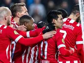 Dos goles del 'Chucky' en una nueva victoria del PSV. EFE
