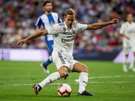 Marcos Llorente's anti-Atletico views have changed over the years. EFE/Archivo