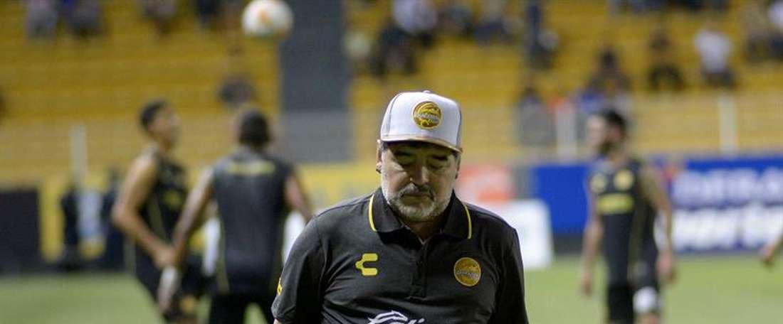 Maradona se quedó a un gol del ascenso. EFE