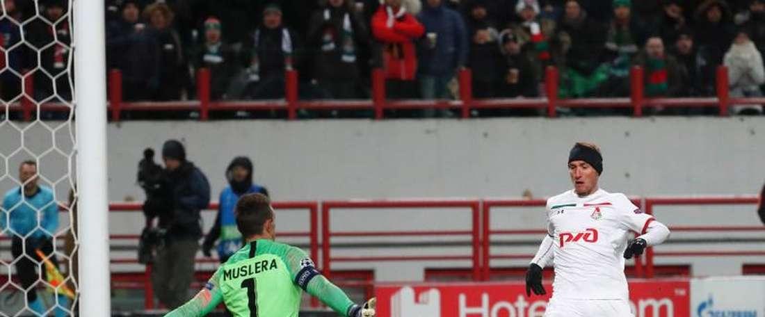 El Lokomotiv de Moscú derrotó en casa al Galatasaray. EFE