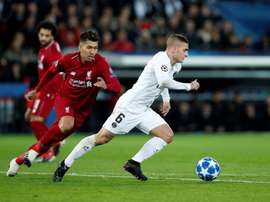 Veratti in action against Liverpool on Tuesday night. EFE
