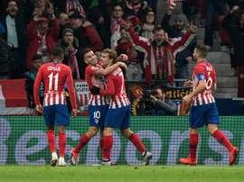 El Atlético venció con más apuros de los esperados al Mónaco. EFE
