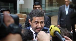 Daniel Angelici confesó seguir pendiente de la Copa Libertadores. EFE