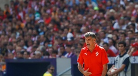 Mendilibar, insatisfecho con el empate. EFE/Archivo