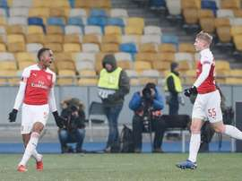 Joe Willock and Emile Smith-Rowe were on the scoresheet for Arsenal. EFE