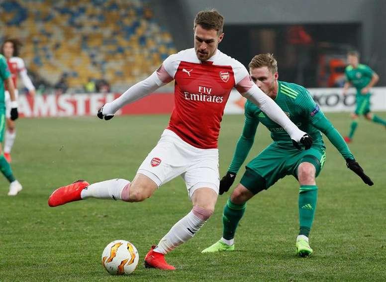 Ramsey intéresse le Real Madrid. EFE