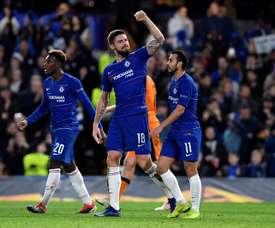 Hudson-Odoi scored his first senior goal for Chelsea against PAOK. EFE