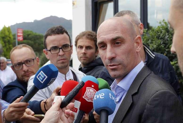 El presidente de la RFEF espera que el duelo sea una fiesta. EFE/Archivo