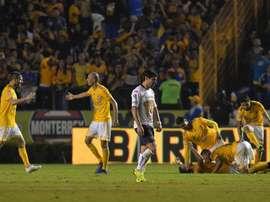 Tigres se impuso por 2-1 a Pumas. EFE