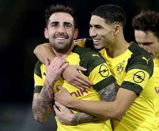 Ambos futbolistas fueron los goleadores. EFE