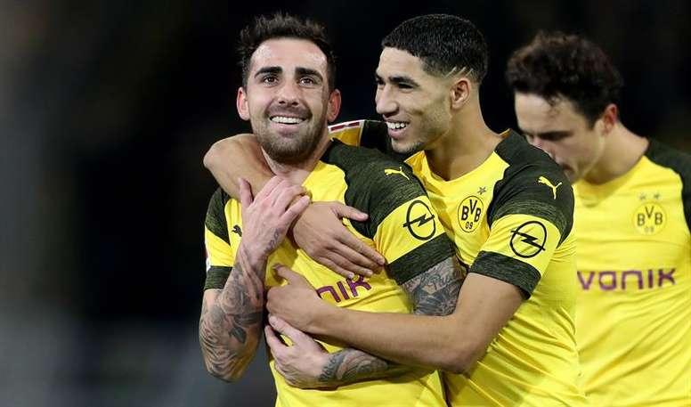 Achraf y Alcácer recuperaron la confianza en Alemania. EFE