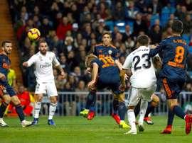 El Madrid facturó un triunfo sin brillo. EFE