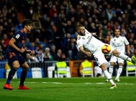 Benzema a marqué six buts à l'extérieur. EFE