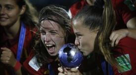 España consiguió su primer título mundial femenino. EFE