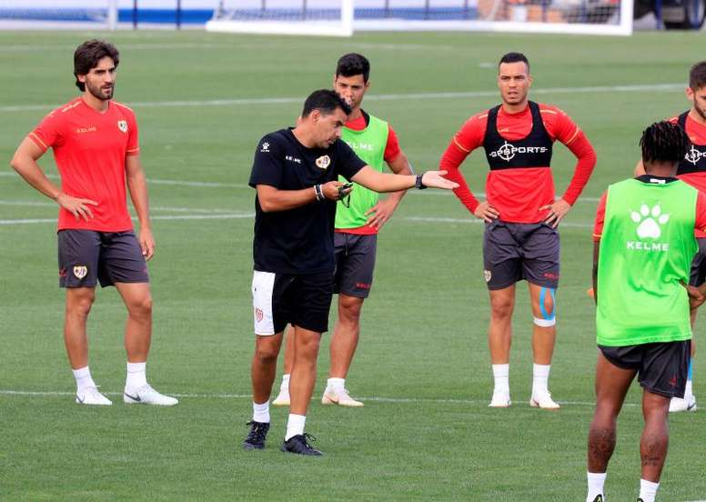 Míchel prepara la Copa con los canteranos Martín, Algobia y Sergio Moreno. EFE/Archivo