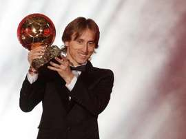 Modric explained how he felt when he was told he had won the Ballon D'or. EFE