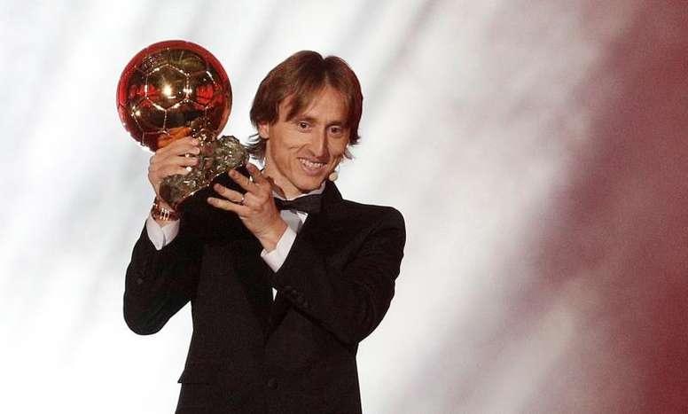 Modric consiguió alzarse con el Balón de Oro. EFE