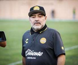 Maradona ya se enfrentó a una sanción similar hace unas semanas. EFE