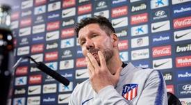 Simeone est passé en conférence de presse. EFE